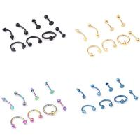 China 16G Titanium Anodized Stainless Steel Body Jewelry Helix Piercing Ear Eyebrow Nose Lip Captive Rings Freeshipping on sale