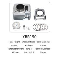 Yamaha ybr 150 for motorcycle cylinder kit,aluminum cylinder Manufactures