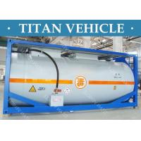 Carbon Steel ISO Tanker container , 20ft Diesel Fuel LNG LPG Transport Tank Container Manufactures