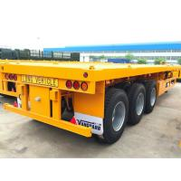 40 Tons Flatbed Container Trailer 45 Foot Flatbed Trailer Leaf Spring Suspension Manufactures
