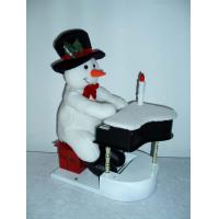 11Inch Musical Snowman Playing the Piano Toddler Electronic Toys for Christmas Decor Manufactures