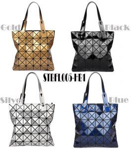 WHOLESALES fashion handbag Geometric Ladies shopper Bag Glossy design Women Tote Shoulder Bag customized bag supplier Manufactures