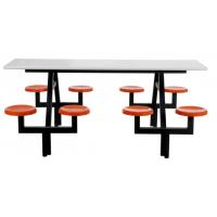 China Custom made steel office furniture dining table with plastic chair in school canteen on sale