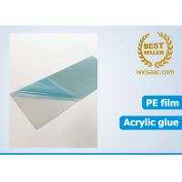 Bright annealed stainless steel scratch protector / low tack protective film 25 micron x 1220mm x 1000 meters Manufactures