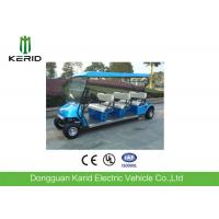 Blue 48V Electric Golf Carts With 6 Seats / Curtis Controller Easy Operated Manufactures