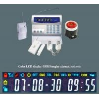 Newest Color LCD Display GSM Burglar Proof Alarm System Manufactures
