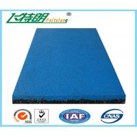 China EPDM Granule Red safety pad / rubber floor mat  / gym rubber floor mat on sale