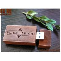 wooden usb 8/16 /32 gb flash drive burlywood handmade wooden USB  Walnut, Leather, Coak Manufactures