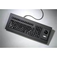 Customizable compact small kiosk industrial keyboard with optical trackball MKB-66A-TB-M Manufactures