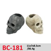 China Smart Electric Stove Gas Fireplace Logs  Ceramic Fire Log Skull Set BC-181 on sale