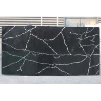 China Kitchen Quartz Countertop Slabs Black Granite Slabs Quartz Stone Thickness 2cm / 3cm on sale