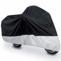 China Compact Lightweight Outdoor Motorcycle Cover Dust Proof Polyester Material on sale
