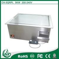 China Chuhe stainless steel built in griddle cooker with 220v on sale