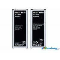 Mobile Phone Samsung Galaxy Note 4 3.7V Lithium Cell Battery replacement 3220 mAh Manufactures