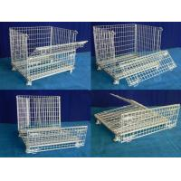 Storage containers collapsible welded galvanized wire mesh storage container Manufactures