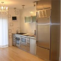 China Classic Custom Commercial Stainless Steel Kitchen Cabinets With Granite Stone Top on sale