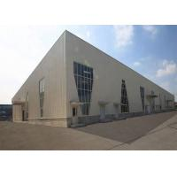 Earthquake Resistance Steel Structure Warehouse Hot - Dip Silver / White Color Manufactures