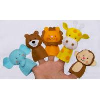 Funny Wild Animal Felt Finger Puppets , Cute Monkey Finger Puppets Manufactures