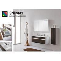 Gloss Wall Mounted Bathroom Cabinets , Pull-out Shelves sink cabinet Manufactures