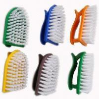 Durable Daily Clothes Brushes with Innovative Handles, Measures 10 x 5.5cm, Made of Nylon/Plastic Manufactures