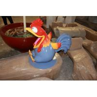 China animal statue  mascot rooster statue in garden/ plaza/ shopping mall for attraction wholesale