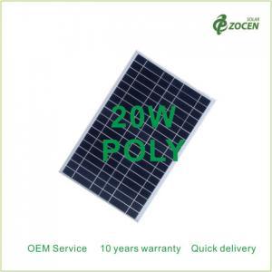 20Wp Small PV Solar Modules Home Applications 20Watt 18VDC Aluminium Frame Manufactures