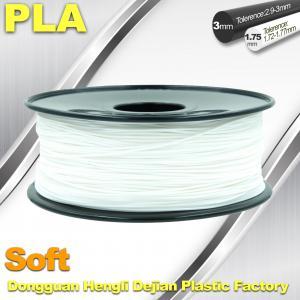 Soft PLA 3D Printer filament., 1.75 / 3.0mm, White Color Manufactures