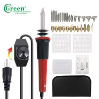 PS10KT Wood Burning Kit / Soldering Kit 28 Tips With Regulator Temperature Control Manufactures