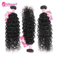 8A Quality Virgin Brazilian Human Hair Bundles Water Wave No Oiled Gloosy Manufactures