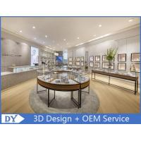 Metal Round Shape Veneer Store Jewelry Display Cases / Retail Glass Display Cabinets Manufactures