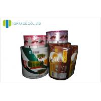 Chocolate Laminated Packaging Film Rolls , Plastic Cup Sealing Film Manufactures