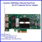 Dual Ports Gigabit Server Ethernet Network Card, RJ-45 Copper Cable 10002ET Manufactures