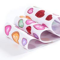 Wholesale Heart Print High Strength Polyester Ribbon 75mm Roll Manufactures