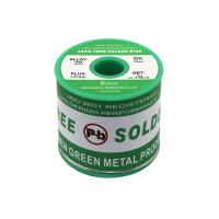 Green Lead Free Soldering Wire Material 0.3mm - 3.0mm Diameter Rosin Core Manufactures