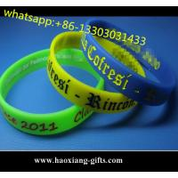 Wholesale custom logo silicone rubber wristbands/bracelet,with your size Manufactures