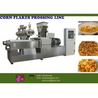 China Puffed Snack Food Processing Machinery, 57.75kw Corn Flakes Machines on sale