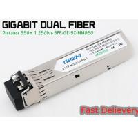 China 1.25G 850nm Fp 550m Lc Mmf Small Form Factor Pluggable Transceiver Fcc Compliant Sfp on sale