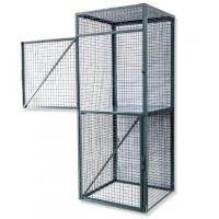 China Workshop Durable Wire Utility Cart,  One Flat Shelf Steel Wire Security Cage on sale