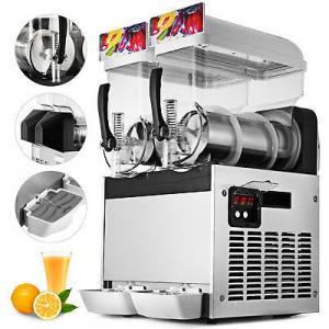 Double Bowls Fruit Juice Frozen Slush Machine , Frozen Margarita Machine Manufactures