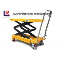 China 150KGS Double Scissor Lift Table CE 1.5 Ton Hydraulic Type Mobile With Rollers on sale