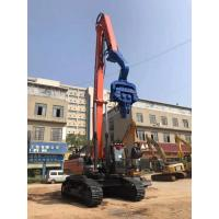 High Accuracy Hydraulic Pile Driver , 32Mpa Sheet Pile Driving Equipment Manufactures