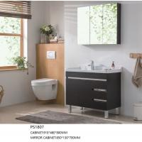 China Custom Floor Mounted Bathroom Cabinets Easy Clean Environment Friendly For Decor on sale