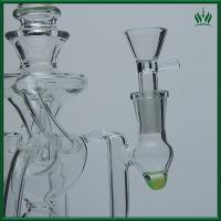 3 Splited Perc Glass Water Bubblers , 10 Inches Glass Smoking Water Pipe Bubbler Manufactures