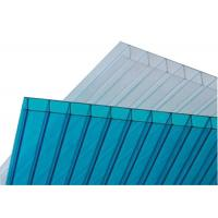 UV Hollow Dual Wall Polycarbonate Sheets, Insulated Polycarbonate Panels For Greenhouse Manufactures