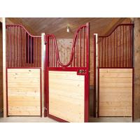 China Temporary Wood Portable Horse Box Stalls Swing Stall Gates Available Custom on sale