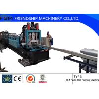 China Heat Treatment C Z Purlin Roll Forming Machine With Cr12 Punching Device on sale