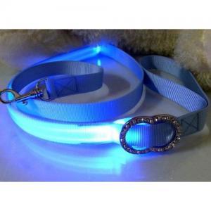Top Grade Blue LED Flash Safty Nylon Dog Collar Manufactures