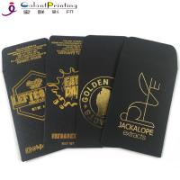 China OEM Envelope Printing Services Shatter Black Gold Oil Wax Extract Coin Envelopes 2.25 X 3.5 Inch on sale