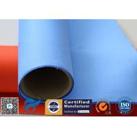 China Colored Silicone Coated Glass Fabric Fiberglass Sound Insulation 530gsm 127cm on sale