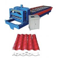 0.4 - 0.8mm Roof tile roll forming machine suitable colored steel, galvanized steel Manufactures